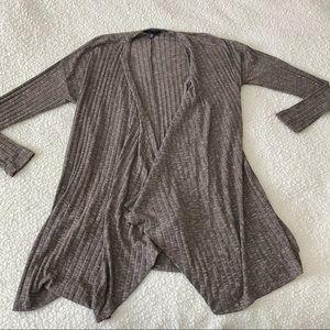 American Eagle || brown marled draped cardigan